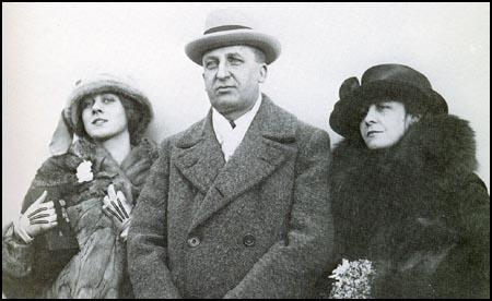 Clare with Albert E. Austin and her mother in 1922.