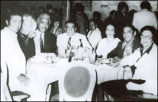 Left to right: Bob and Florence Walton, David Morales, Joe Morales (father), Rose Morales (mother), Paul Morales (brother) and his wife (1977).