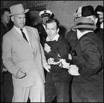 The shooting of Lee Harvey Oswald