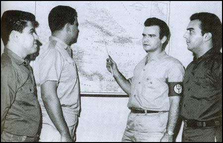 Manuel Artime and Rafael Quintero (far right) in 1964.