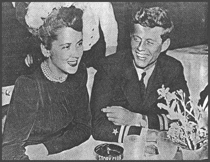 John Kennedy and Florence Pritchett at the Stork Club (Feburary 1944)