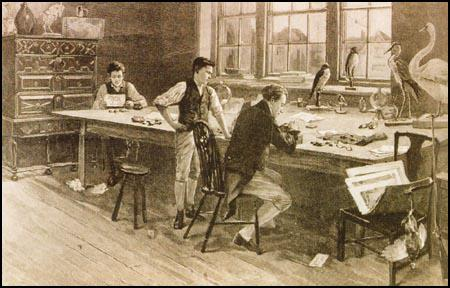 John Eyre's imagined scene in Bewick's workshop entitled The Master Engraver.