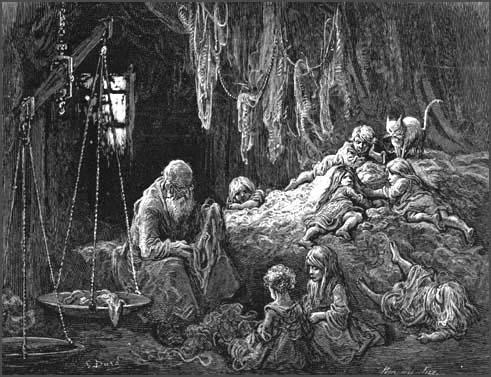 Gustav Dore, A Clothesman at Work (1872)