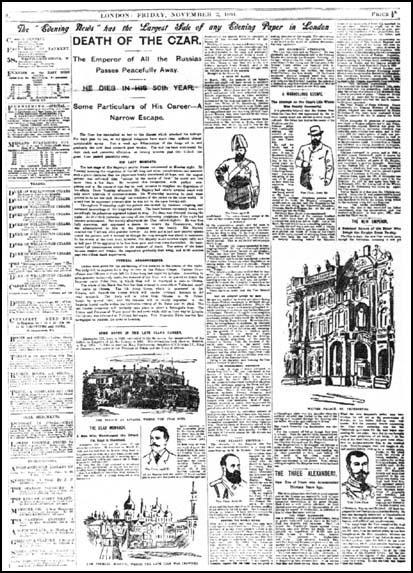 The Evening News (2nd, November, 1894)