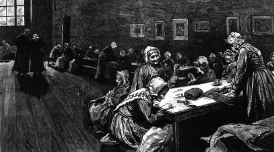 Hubert von Herkomer, Westminster Union, The Graphic (7th April, 1877)