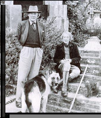 Harold Nicholson and Vita Sackville-West in 1955