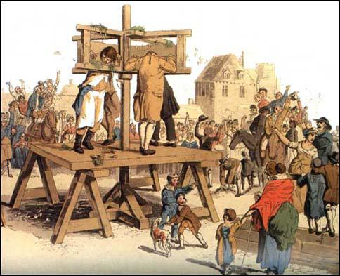 William Pyne, The Pillory, The Costume of Great Britain (1805)