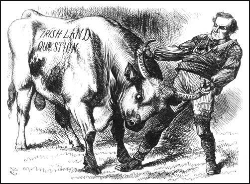John Tenniel, Punch Magazine, WilliamGladstone and the Irish Land Question (1870)