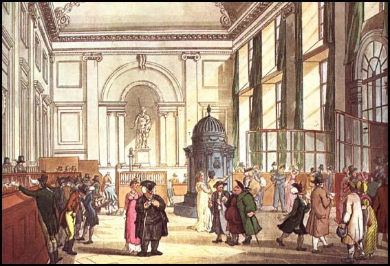 Rudolf Ackermann, Bank of England, from Microcosm of London (1808)