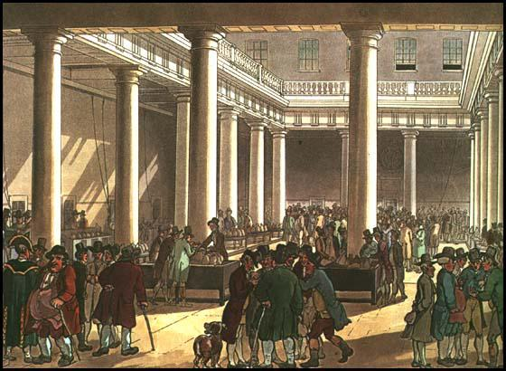 Rudolf Ackermann, Corn Exchange, from Microcosm of London (1808)