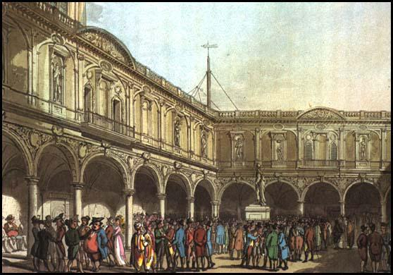 Rudolf Ackermann, Royal Exchange, from Microcosm of London (1808)
