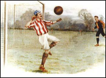 Painting of Ted Doig playing for Sunderland.