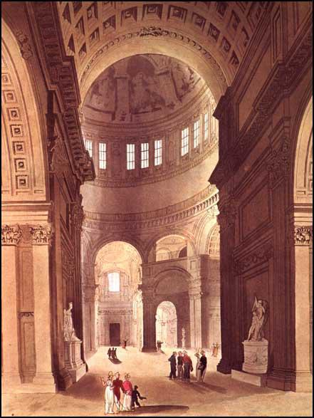 Rudolf Ackermann, St Paul's Cathedral,from Microcosm of London (1808)