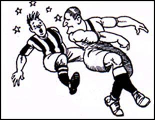 Cartoon of Frank Barson in action
