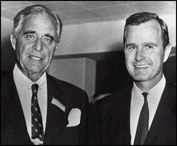 Prescott Bush and his son George H. W. Bush