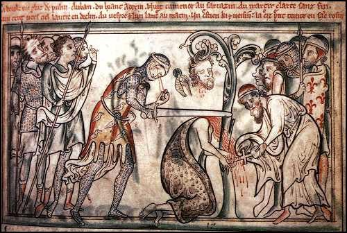 Matthew Paris, Execution of St Alban (c.1250)