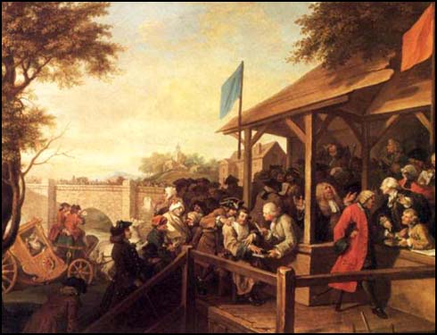 William Hogarth, An Election: The Polling (1754)