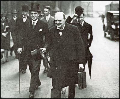 Robert Boothby and Winston Churchill in 1928