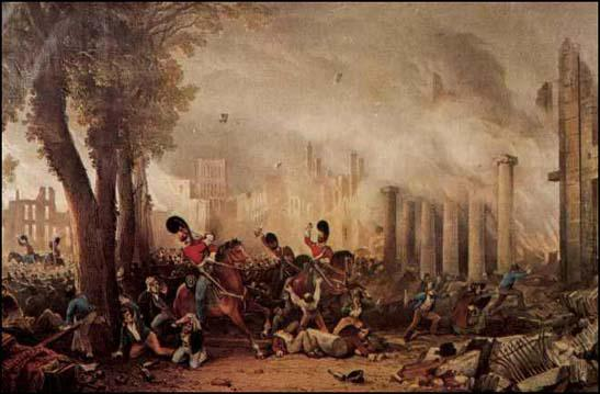 The Dragoons attacking the crowd at Bristol on 31st October, 1831.