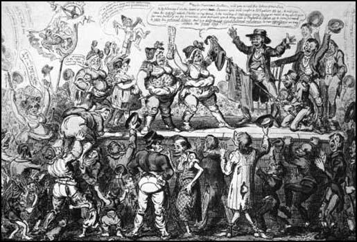 George Cruikshank produced Female Reformers of Blackburnafter he read about the group in the Black Dwarf (12th August 1819)
