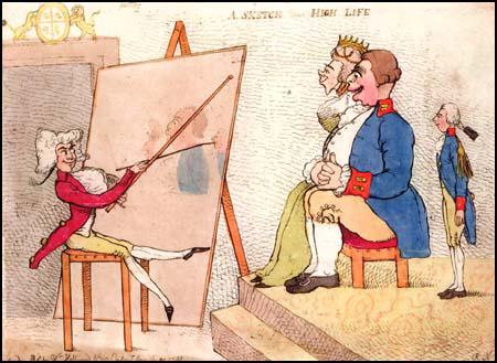 Richard Newtonproduced a print in 1791 showing him painting the king and queen.