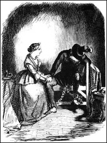 Queen Victoria: Tell me, dearest Albert, have you any railway shares?John Leech, Punch Magazine (1845)