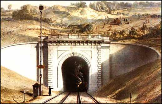 John C. Bourne, lithograph of the Box Tunnel