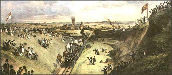 The opening of the Canterbury & Whitstable Railway in 1830.