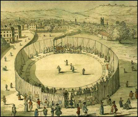 Richard Trevithick's Steam Circus in 1808.