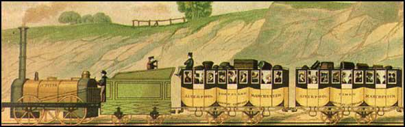 John C. Bourne produced this lithograph of first-class travel in 1839