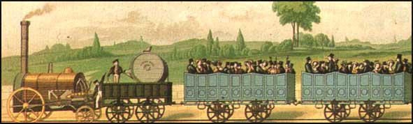 A. J. C. Bourne produced this lithograph of second-class travel in 1839