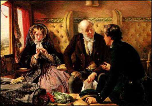 Abraham Solomon, First Class - the Meeting (revised version, 1855)
