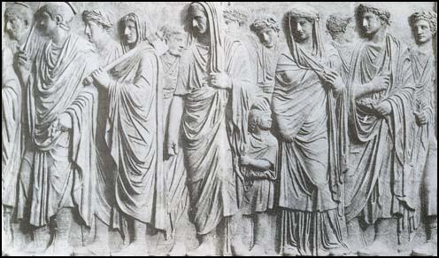 Stone relief on Augustus' mausoleum (c. AD 14)