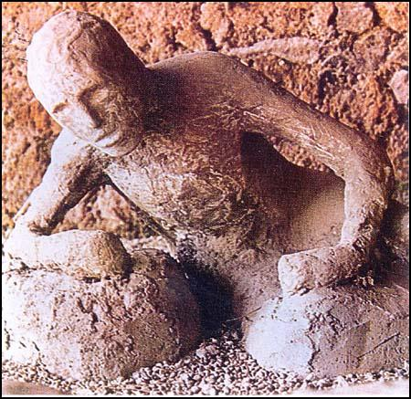 Cast of a man killed in Pompeii during the eruption of Vesuvius in AD 79.