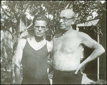 Nestor Makhno with Alexander Berkman in Paris in 1927