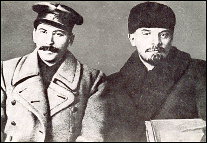 Joseph Stalin and Lenin in 1917