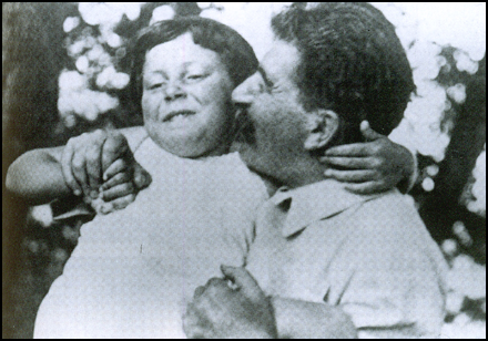 Joseph Stalin with his daughter Svetlana.