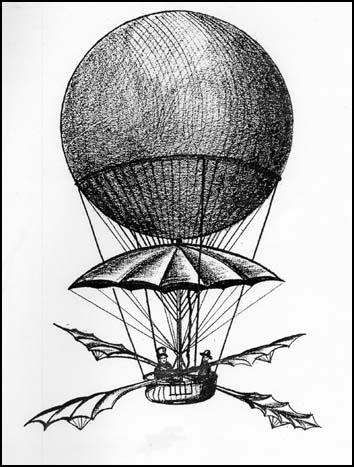 Blanchard's balloon in 1785 by Robert Tressell