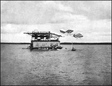 The launch pad on the Potomac River in 1903