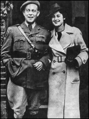 Etienne and Violette Szabo on their wedding day.