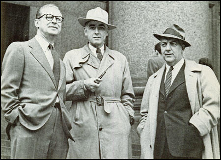 James Aronson, Cedric Belfrage and John T. McManus in 1948