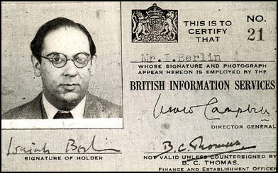 Isaiah Berlin's identification card
