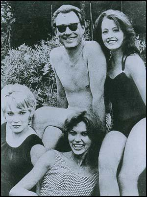 Stephen Ward, Christine Keeler and two unnamed women.