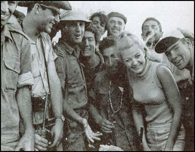 Mandy Rice-Davies with the Israeli Army