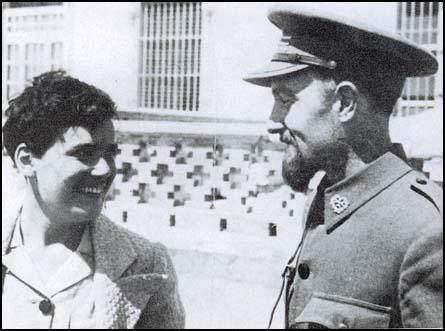 Archie Cochrane with unidentified nurse in Spain