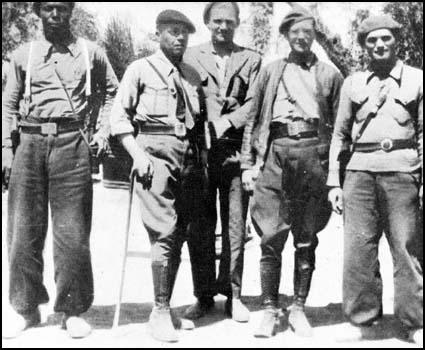 Brigade Commanders of the International Brigades: Oliver Law (United States), Fort (France), Fred Copeman (Britain), Johnson (United States ) and Josip Tito (Yugoslavia).