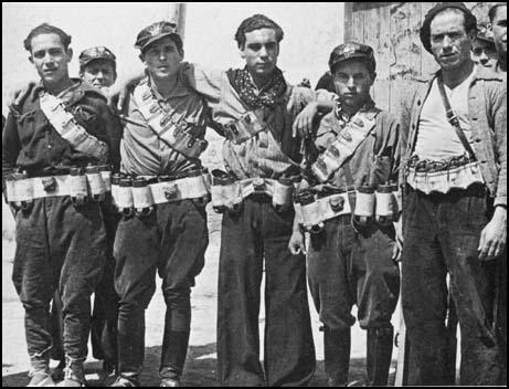 Members of the Durruti Column in Aragón (August, 1936)