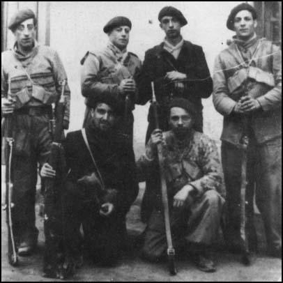 French members of the International Brigade in Madrid in 1936.