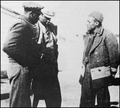 Oliver Law and Paul Robeson in Spain in 1937