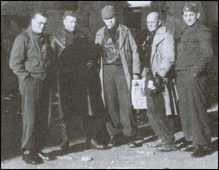 Wilfred Macartney, Dave Springhill, Peter Kerrigan, Tom Wintringham and Frank Ryan in February 1937 before the Battle of Jarma.